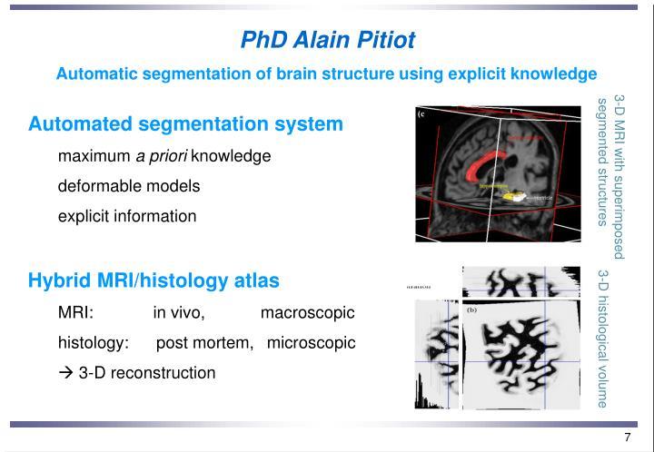 PhD Alain Pitiot