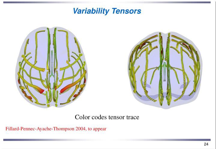 Variability Tensors
