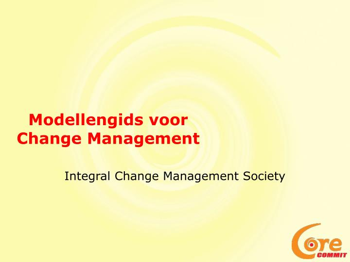 Modellengids voor change management