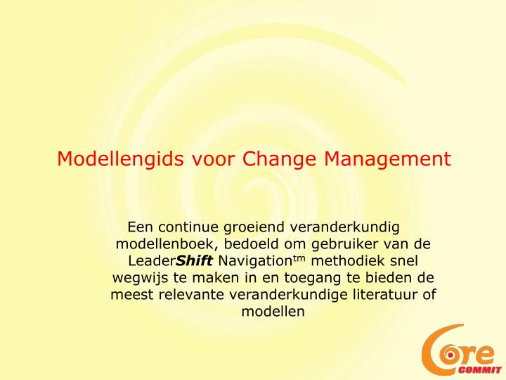 Modellengids voor change management1