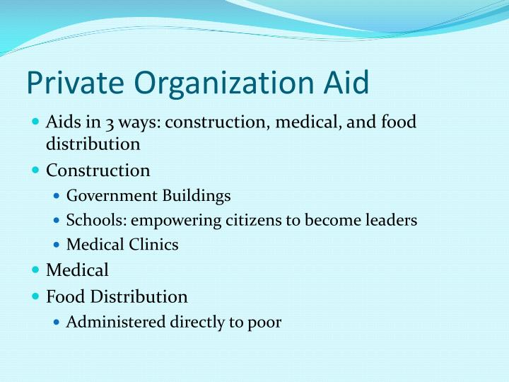 Private Organization Aid