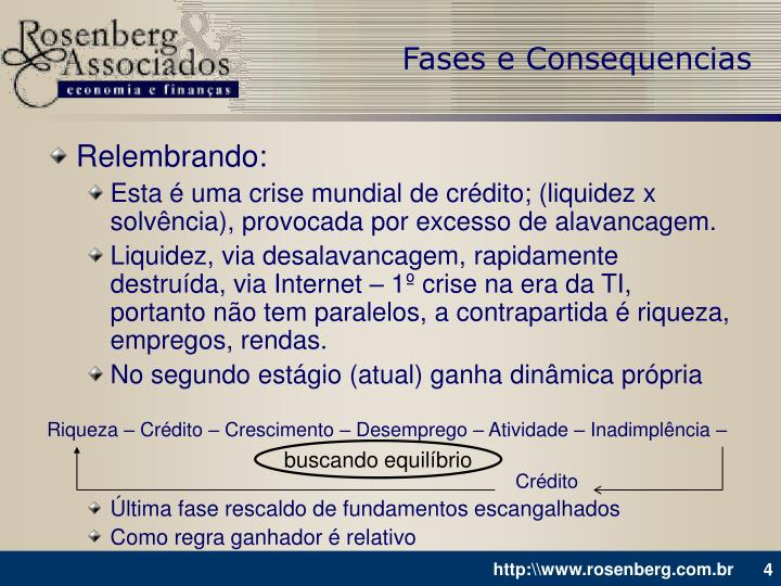 Fases e Consequencias