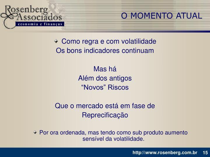 O MOMENTO ATUAL