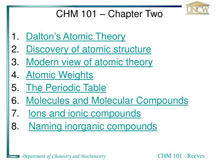 Chm 101 chapter two