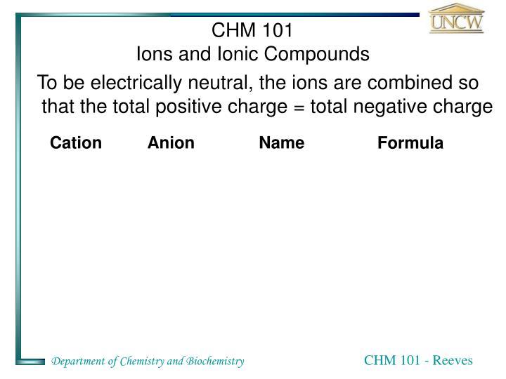 CHM 101