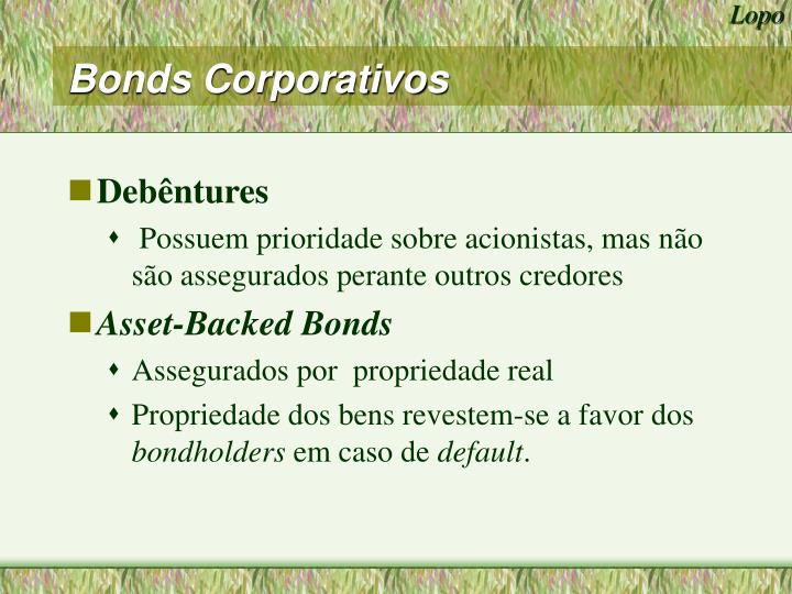 Bonds Corporativos