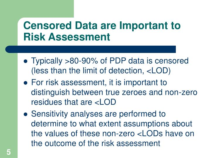 Censored Data are Important to Risk Assessment