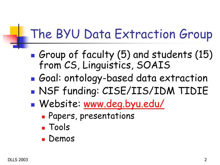 The BYU Data Extraction Group