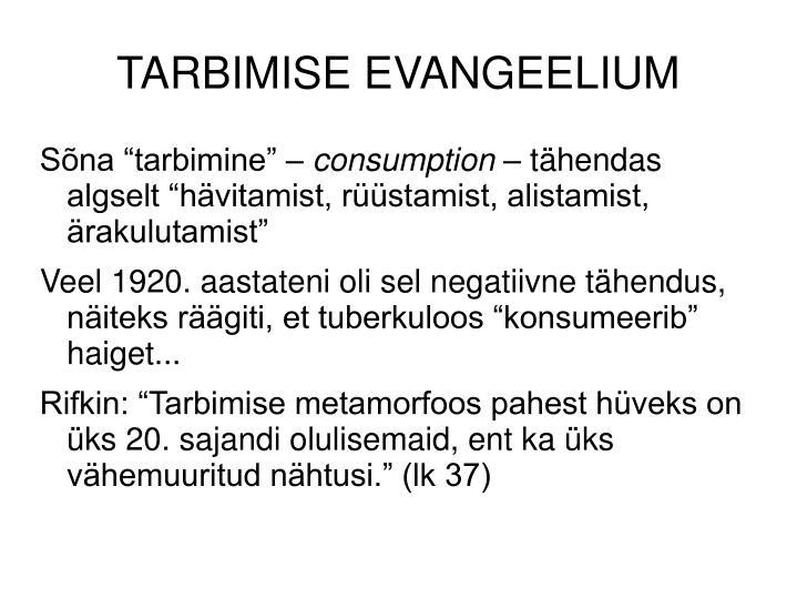 TARBIMISE EVANGEELIUM