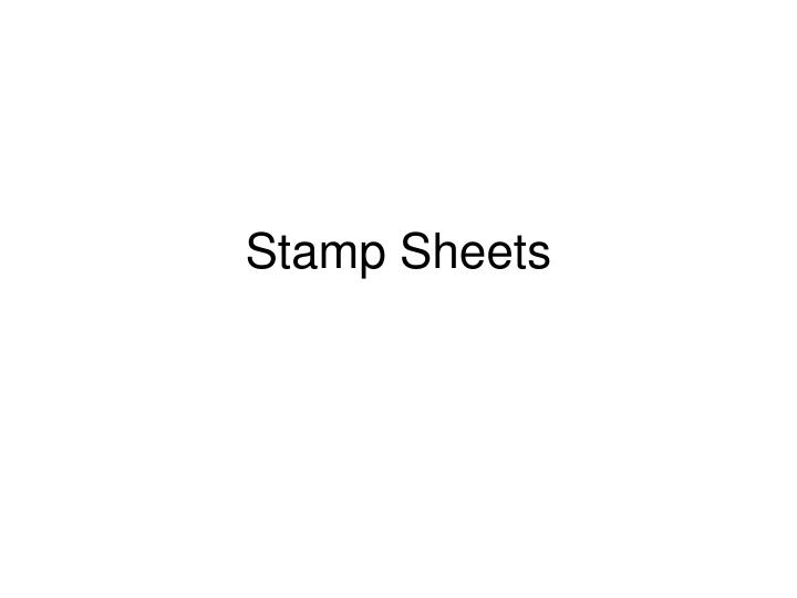 Stamp sheets