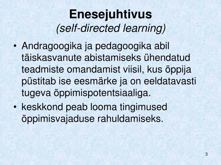 Enesejuhtivus self directed learning