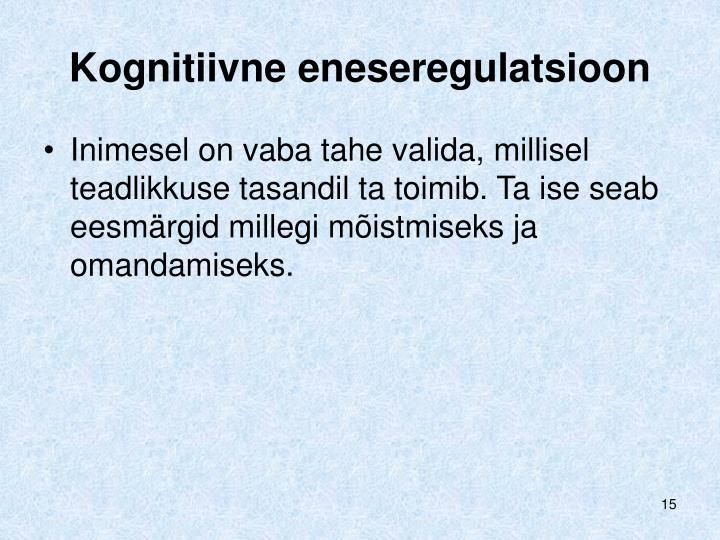 Kognitiivne eneseregulatsioon