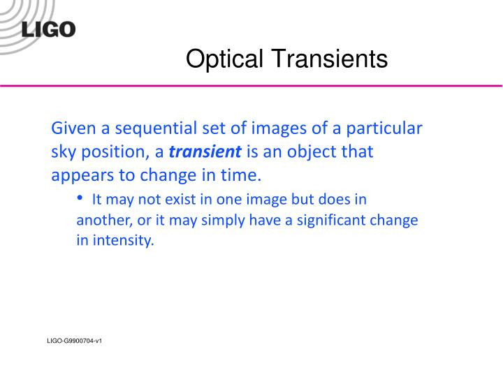 Optical Transients