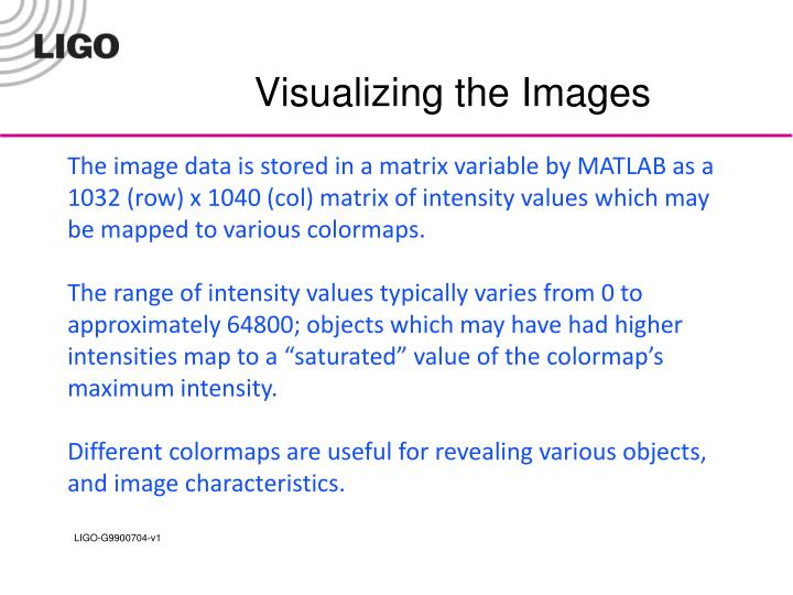 Visualizing the Images