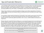 age and exploration behaviors