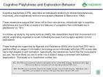 cognitive playfulness and exploration behavior