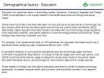 demographical factors education