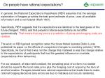do people have rational expectations1