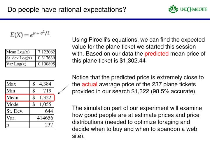 Do people have rational expectations?