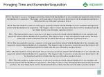 foraging time and surrender acquisition1