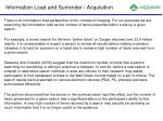 information load and surrender acquisition