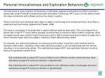 personal innovativeness and exploration behaviors