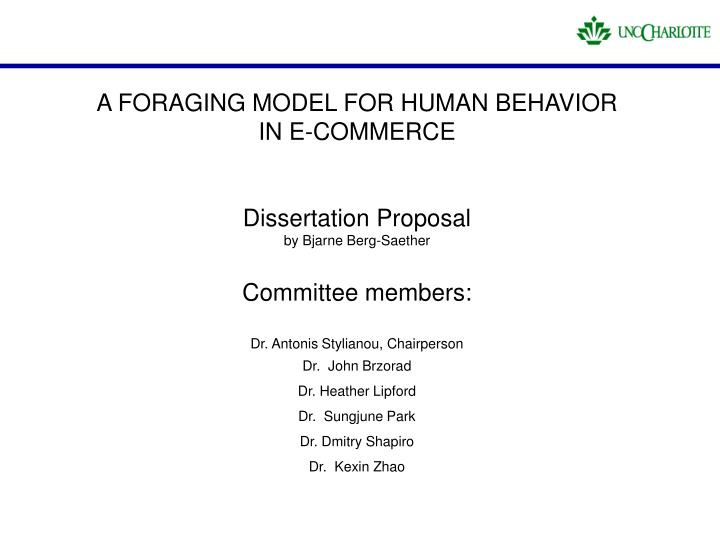 A FORAGING MODEL FOR HUMAN BEHAVIOR