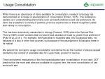 usage consolidation