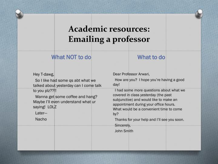 Academic resources: