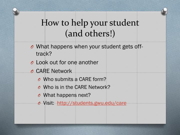 How to help your student