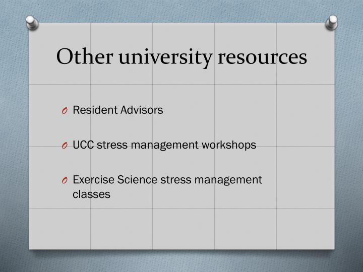 Other university resources