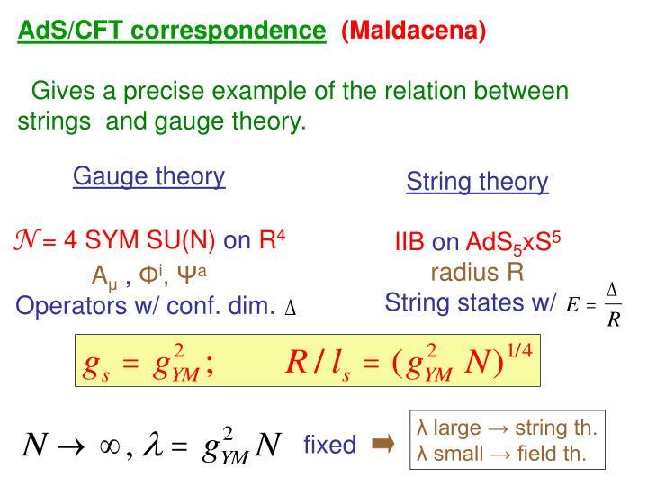 AdS/CFT correspondence