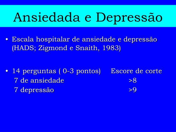 Ansiedada e Depressão