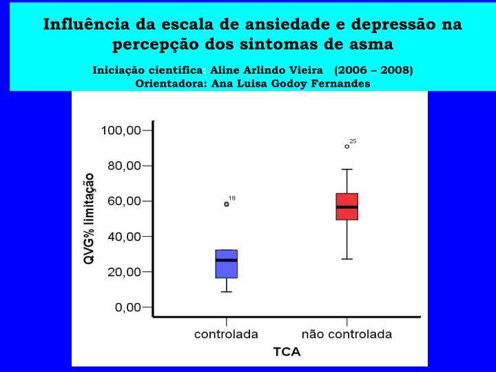 Influência da escala de ansiedade e depressão na percepção dos sintomas de asma