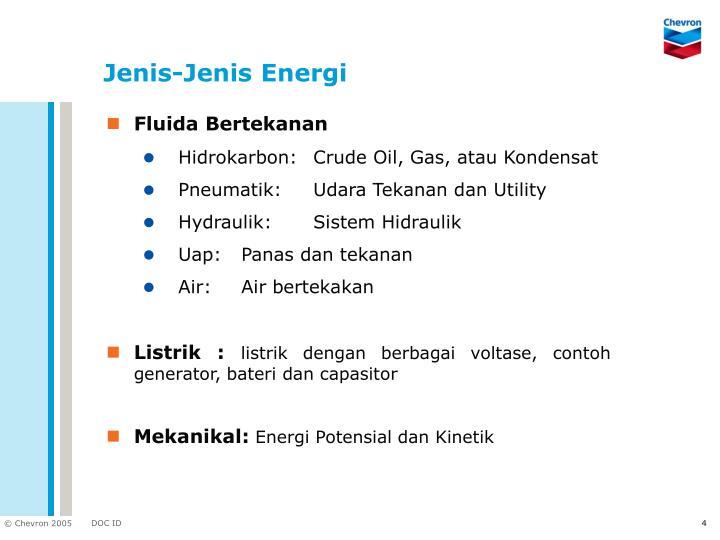 Jenis-Jenis Energi