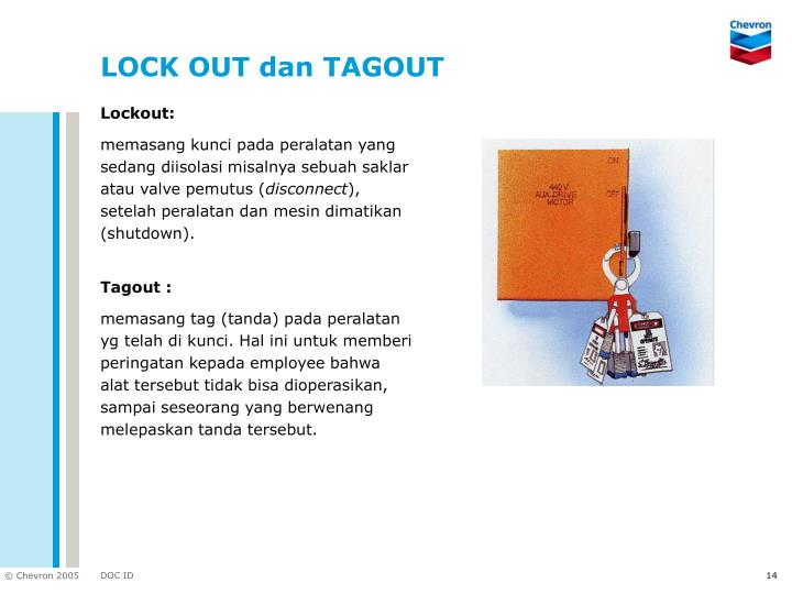 LOCK OUT dan TAGOUT