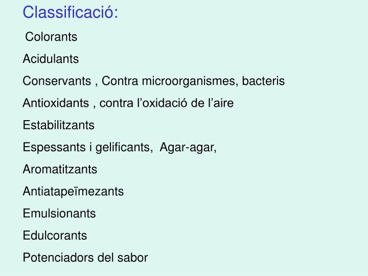 Classificació: