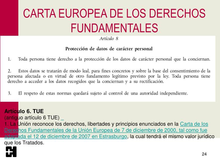 CARTA EUROPEA DE LOS DERECHOS FUNDAMENTALES