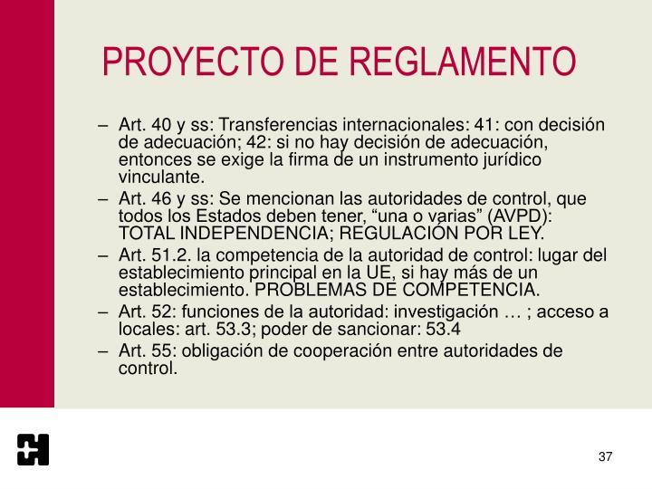 PROYECTO DE REGLAMENTO