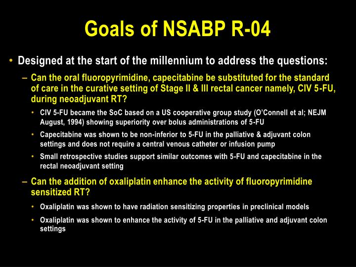 Goals of nsabp r 04