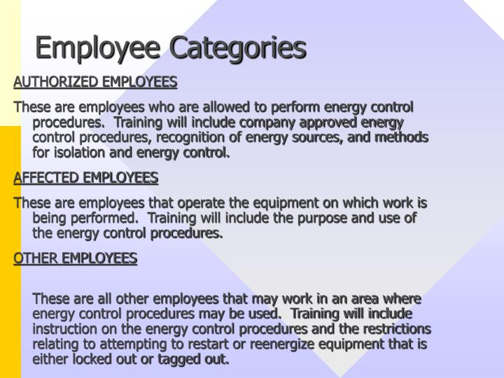 Employee Categories