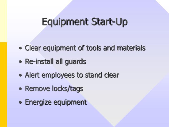 Equipment Start-Up