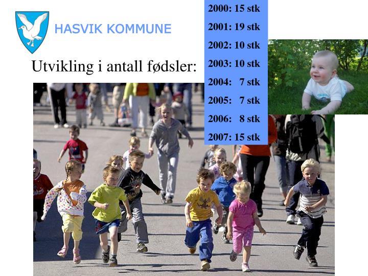 2000: 15 stk
