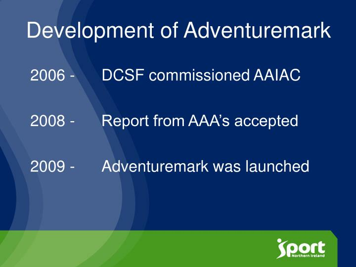 Development of Adventuremark