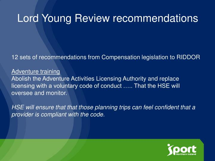 Lord Young Review recommendations