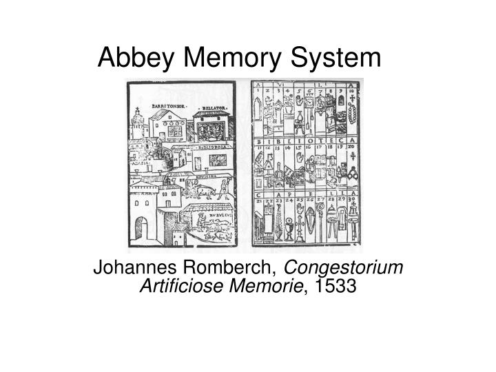 Abbey Memory System
