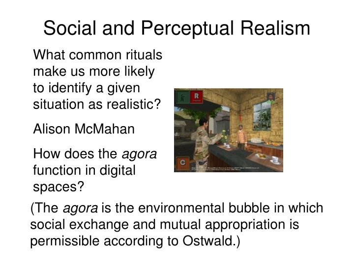 Social and Perceptual Realism