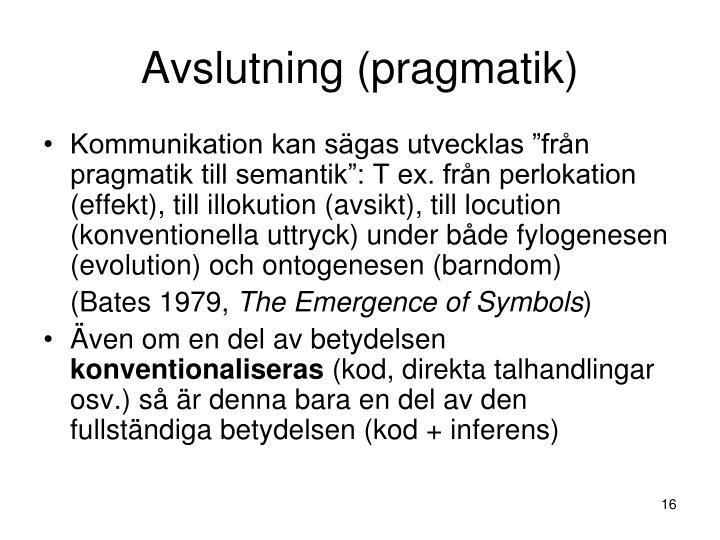 Avslutning (pragmatik)