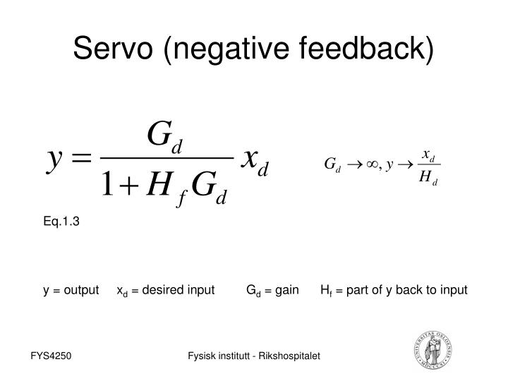 Servo (negative feedback)