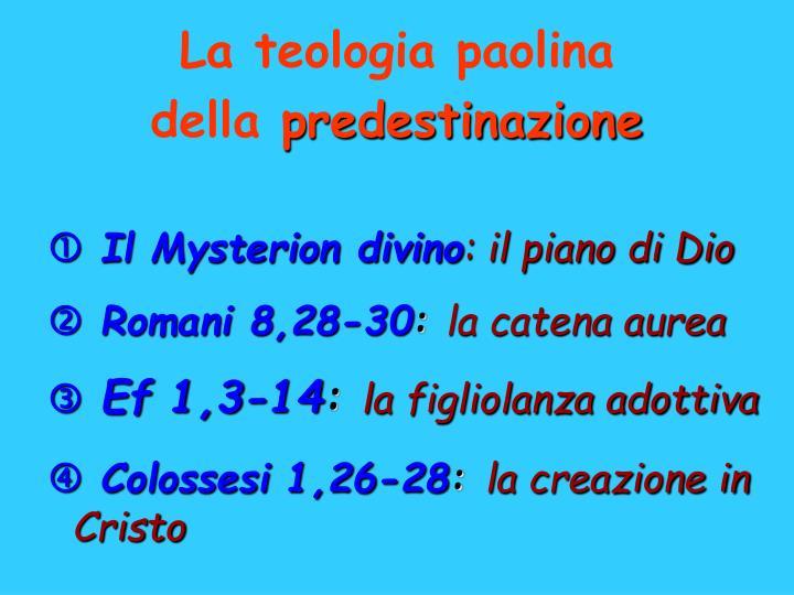 La teologia paolina